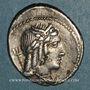 Coins République romaine. L. Julius Bursio (vers 85 av. J-C). Denier