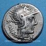 Coins République romaine. M. Caecilius Q. f. Q. n. Metellus (vers 127 av. J-C). Denier. Sans étoile ! ! !