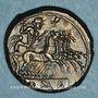 Coins République romaine. Monnayage anonyme (vers 225-212 av. J-C). Didrachme-quadrigatus