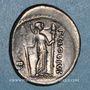 Coins République romaine. P. Clodius M. f. Turrinus (vers 42 av. J-C). Denier