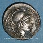 Coins République romaine. P. Fonteius P. F. Capito (vers 55 av. J-C). Denier