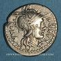 Coins République romaine. Q. Fabius Labeo (vers 124 av. J-C). Denier