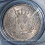 Coins 1ère restauration (1814-1815). 5 francs buste habillé. 1814B Rouen. (PCGS MS 62)