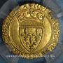 Coins Charles VI (1380-1422). Ecu d'or à la couronne. 4e emission. Romans, point 2e