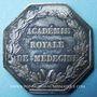 Coins Académie royale de médecine. Louis XVIII. Jeton argent. Signé Gayrard F.