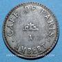 Coins Ambert (63). Café de Paris. jeton publicitaire. Carton recouvert de deux plaques de zinc
