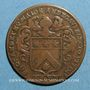 Coins Anjou. Mairie d'Angers. Fr Grandet. Jeton cuivre 1692