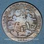 Coins Anjou. Mairie d'Angers. Jean Esly. Jeton cuivre 1661