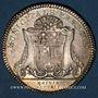 Coins Anjou. Mairie d'Angers. Jeton argent. Buste de Stanislas, duc d'Angers