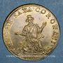 Coins Archevêché de Bourges. Jean IV de Montpezat de Carbon. Jeton cuivre jaune 1666