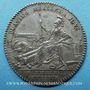 Coins Artillerie et Génie. Louis XV. Jeton argent n. d.