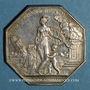 Coins Assurances. Assurances Générales. Assurance incendie 1818. Jeton argent. Poinçon: lampe