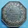 Coins Assurances. La Nationale. Incendie. Jeton argent 1817. Poinçon : abeille