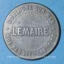 Coins Boulogne-sur-Mer (62). Bains Lebeau - Abonnements bains chauds Lemaire. Jeton zinc