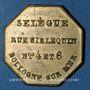 Coins Boulogne-sur-Mer (62). Hôtel du Rhin et de Portugal, Selègue (rue Siblequin n° 4 et 6). Jeton laiton