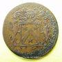 Coins Bourgogne. Mairie de Dijon. M. de Badier. Jeton cuivre 1685