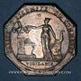 Coins Caisse d'Escompte du Commerce. Jeton argent (1797)