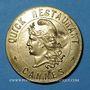 Coins Cannes (06). Quick restaurant (22 rue du Cdt Vidal & 8 bd d'Alsace). Jeton publicitaire