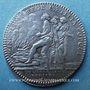 Coins Chambre aux Deniers. Louis XV. Jeton argent 1745