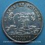 Coins Chambre aux Monnaies. Louis XV. Jeton argent 1723
