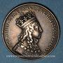 Coins Champagne. Reims. Sacre de Louis XIV. Jeton argent. Refrappe