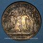 Coins Champagne - Reims. Sacre de Louis XV. Jeton laiton 1723