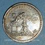 Coins Champagne. Reims. Sacre de Louis XVI. Jeton argent. Refrappe
