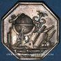 Coins Charonne. Prix encouragement. Jeton d'argent. Poinçon : lampe antique