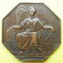 Coins Chemin de fer. Ouverture de la ligne Paris-St Cloud et Versailles. 1837. Jeton bronze