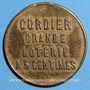 Coins Cordier. Grande loterie à 5 cmes. Jeton publicitaire en bronze