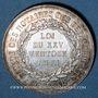Coins Corps Notarial. Comité des départements. Jeton argent