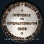 Coins Corps Notarial. Souvenir du cinquentenaire. 1889. Jeton argent