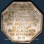 Coins de Choiseil L.-M., baron et capitaine de la garde du dauphin. Jeton argent octogonal 1771