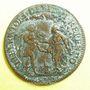 Coins Etats de Bourgogne. Jeton cuivre 1653