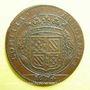 Coins Etats de Bourgogne. Jeton cuivre 1674