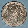 Coins Etats de Bourgogne. Jeton cuivre 1698