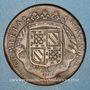 Coins Etats de Bourgogne. Jeton cuivre 1707