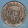 Coins Etats de Bourgogne. Jeton cuivre 1725
