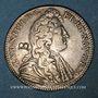 Coins Etats de Bretagne. Louis XIV. Jeton argent 1681. Nantes. Contremarqué d'un B à l'avers