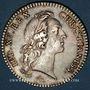 Coins Etats de Bretagne. Louis XV. Jeton argent 1740