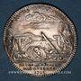 Coins Extraordinaire des Guerres. Louis XV. Jeton argent 1748