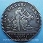 Coins Extraordinaire des Guerres. Louis XV. Jeton argent 1758