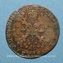 Coins Flandre. Bureau des Finances. Charles II (1665-1700). Jeton cuivre 1672