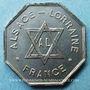 Coins Franc-maçonnerie. Paris. Alsace-Lorraine. Jeton. Octogonal. Cuivre argenté. 23 mm