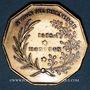 Coins Franc-maçonnerie. Paris. Isis-Montyon. Jeton décagonal laiton. 22 mm