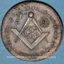 Coins Franc-maçonnerie. Paris. La Constance Eprouvée. Jeton cuivre. 29 mm