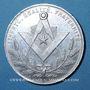 Coins Franc-maçonnerie. Paris. Les Vrais Amis. Jeton aluminium. 30,9 mm