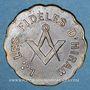 Coins Franc-maçonnerie. Rueil. Les Fidèles d'Hiram. Jeton laiton. 25 mm.