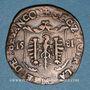 Coins Franche-Comté. Besançon. Chambre des comptes. Charles Quint. Jeton cuivre 1581