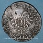 Coins Franche-Comté. Besançon. Chambre des comptes. Charles Quint. Jeton cuivre 1587